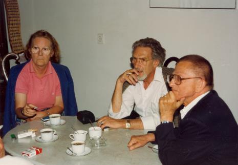 Z prawej Ryszard Stanisławski w towarzystwie muzealników niemieckich