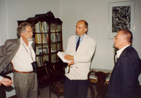 Od lewej x, dyr. Jaromir Jedliński (ms), Ryszard Stanisławski