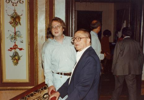 Ryszard Stanisławski i dyr. Christoph Brockhaus (Duisburger Wilhelm Lehmbruck Museum)