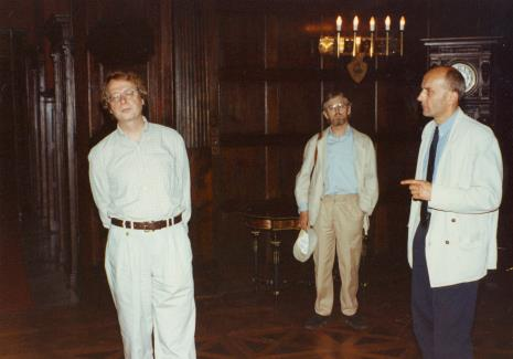 Od lewej dyr. Christoph Brockhaus (Duisburger Wilhelm Lehmbruck Museum), artysta Edward Łazikowski, dyr. Jaromir Jedliński (ms)