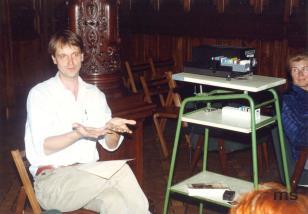 Dariusz Bugalski (Dział Naukowo - Oświatowy podczas wykładu