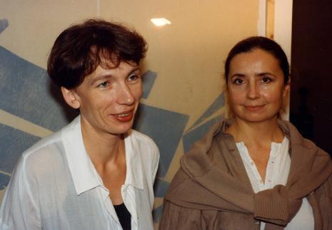 Anna Saciuk-Gąsowska (Dział Sztuki Nowoczesnej), Jolanta Wagner (PWSSP w Łodzi)
