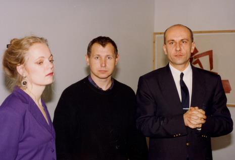Gerdie Verschoor (ambasada Holandii), malarz Włodzimierz Pawlak, dyr. Jaromir Jedliński (ms)