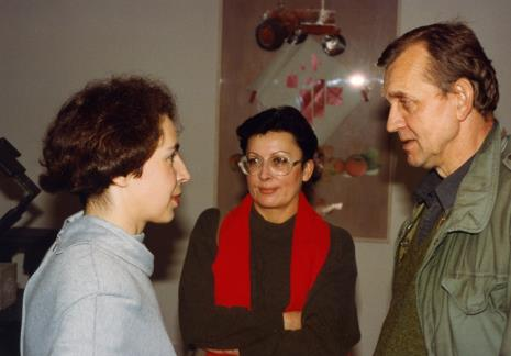Katarzyna Horna-Pawłowska (Dział Realizacji Wystaw i Wydawnictw) w rozmowie z Ewą i Bogusławem Balickimi