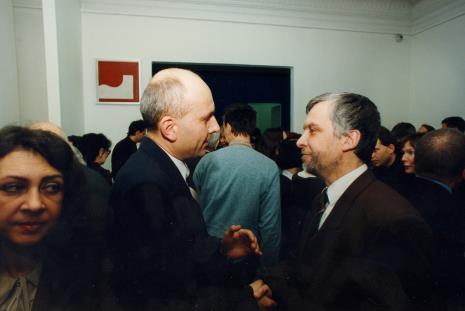 Dyr. Jaromir Jedliński (ms) w rozmowie z Leszczyńskim (Urząd Miasta Łodzi)