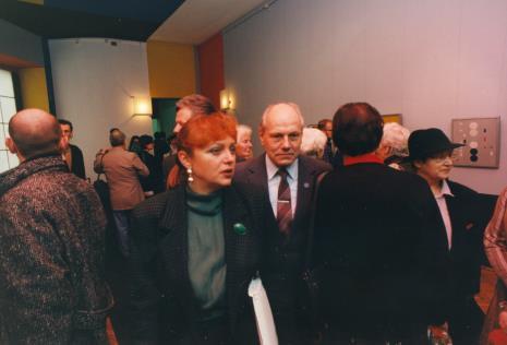Wiceprezydent Łodzi Elżbieta Hibner, obok prof. Zdzisław Klajnert