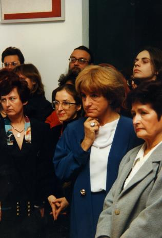 Od lewej Aleksandra Misztal (Główna Księgowa), Małgorzata Wiktorko (Dział Naukowo - Oświatowy), Nika Strzemińska, Maria Sapkowa