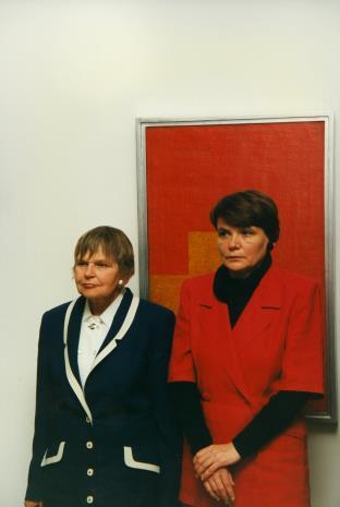Janina Ładnowska i Zenobia Karnicka z Działu Sztuki Nowoczesnej