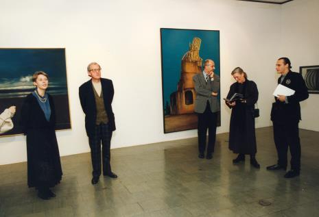 Od lewej Katarzyna Jasińska (Dział Promocji), Zbigniew Gostomski, dyr. Jaromir Jedliński (ms), p. Gostomska, Pierre Bernier
