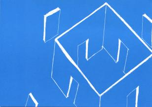 [Zaproszenie] Daniel Buren; Hommage á Henryk Stażewski; Cabane Éclatée avec tissu blanc et noir, travail situé, 1985 – 2009 [...]