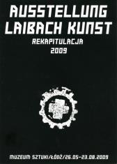 Zaproszenie na otwarcie wystawy dokonań artystycznych członków grupy Laibach oraz na koncert samego zespołu w Filharmonii Łódzkiej.