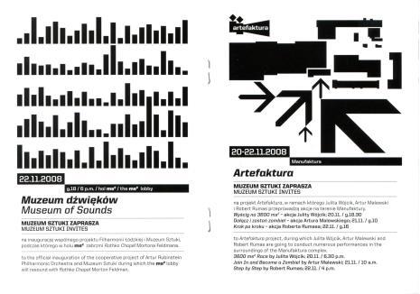 [Ulotka] Kolekcja sztuki XX i XXI wieku. Muzeum Sztuki zaprasza/ Collection of 20th and 21th Century Art. Muzeum Sztuki invites […]