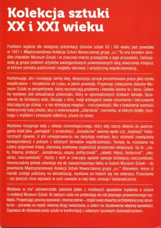[Ulotka] Kolekcja sztuki XX i XXI wieku […]