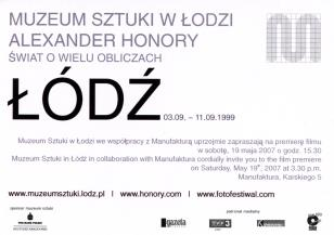 Zaproszenie na premierę filmu dotyczącego akcji Alexandra Honorego przeprowadzonej we wrześniu 1999 roku.