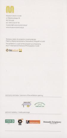 [Zaproszenie] Fotoobrazy. Gest plastyczny w fotografii ze zbiorów Dariusza i Krzysztofa Bieńkowskich./ Photoimages. Plastic gesture in photography form the collection of Dariusz and Krzysztof Bieńkowski.  [...]