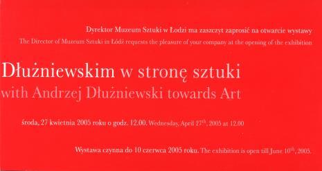 [Zaproszenie] Spacer z Andrzejem Dłużniewskim w stronę sztuki./ A Walk with Andrzej Dłużniewski towards Art. [...]