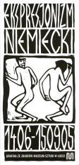 Ulotka zawierająca informacje na temat ekspresjonizmu niemieckiego, zbiorów ekspresjonizmu niemieckiego w MSŁ oraz lista eksponowanych prac.