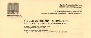 [Zaproszenie] Atelier Mondriana i minimal art./ Mondrian's atelier and minimal art. [...]