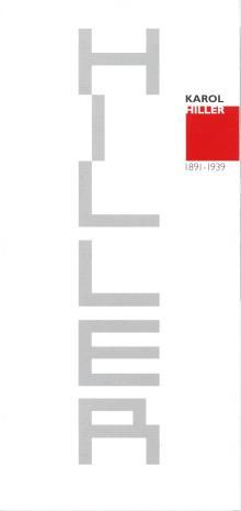 [Folder/Zaproszenie] Karol Hiller 1891-1939. Nowe widzenie: malarstwo, heliografika, rysunek, grafika.