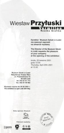 [Zaproszenie] Wiesław Przyłuski. Vermillon. Rzeźba, grafika. [...]