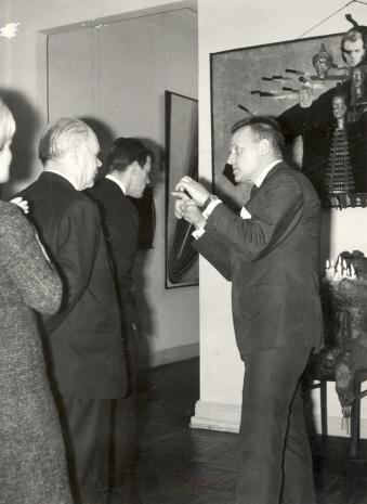 Od lewej lord Mayor Nottingham, sekretarz Ambasady Wielkiej Brytanii w Polsce, red. Jerzy Urbankiewicz (Dziennik Łódzki),