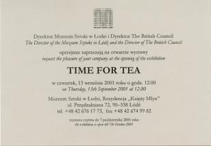 [Zaproszenie] Time for Tea. [...]