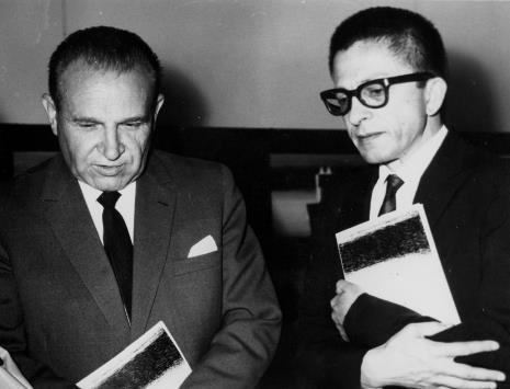 Edward Kaźmierczak (przewodniczący Rady Narodowej) i dyr. Ryszard Stanisławski