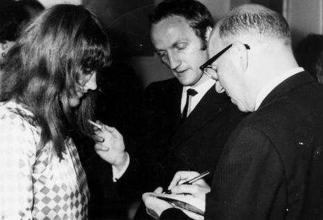 Od lewej M. Wujek, Jakub Wujek, Michel Seuphor