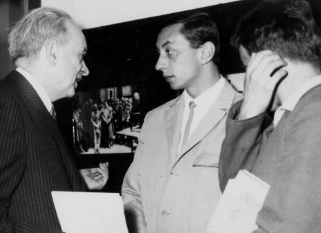 od lewej Jan Brzękowski, Henryk Plauszowski (Uniwersytet Łódzki), dr Jacek Ojrzyński (Dział Dokumentacji Naukowej)