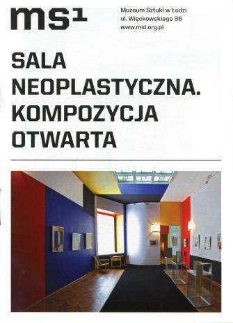 [Ulotka/Folder] Sala Neoplastyczna. Kompozycja otwarta. […]