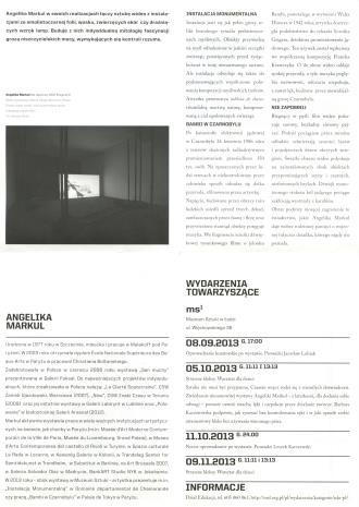 [Ulotka/Folder] Wyzwolone siły. Angelika Markul i współczesny demonizm. […]