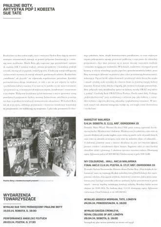 [Ulotka/Folder] Pauline Boty and Pop Art.