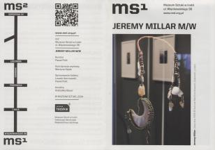 [Ulotka/Folder] Jeremy Millar M/W.