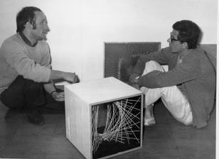 Przed otwarciem wystawy: Jakub Wujek i Alberto Biasi