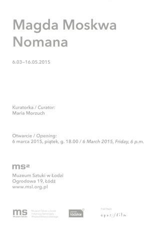 [Zaproszenie] Magda Moskwa. Nomana.