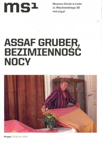 [Ulotka/Folder] Assaf Gruber. Bezimienność nocy.