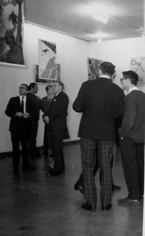 Od lewej dyr. Ryszard Stanisławski, Lech Kunka, Michalina Tatarkówna, Edward Kaźmierczak (przewodniczący Rady Narodowej w Łodzi), x, Stanisław Fijałkowski
