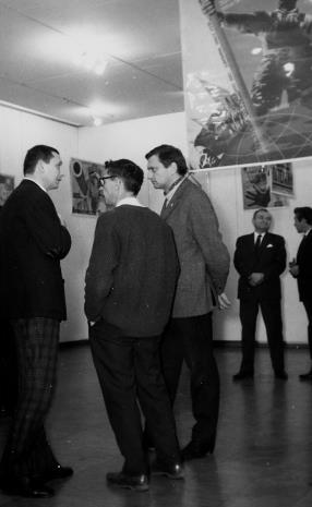 Od lewej artyści: Ireneusz Pierzgalski, Stanisław Fijałkowski, Krystyn Zieliński