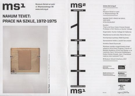 [Ulotka/Folder] NahumTevet: Prace na szkle, 1972-1975.