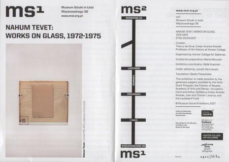 [Ulotka/Folder] NahumTevet: Works on glass, 1972-1975.