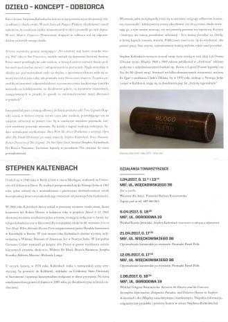 [Ulotka/Folder] Stephen Kaltenbach. Indeks możliwości.