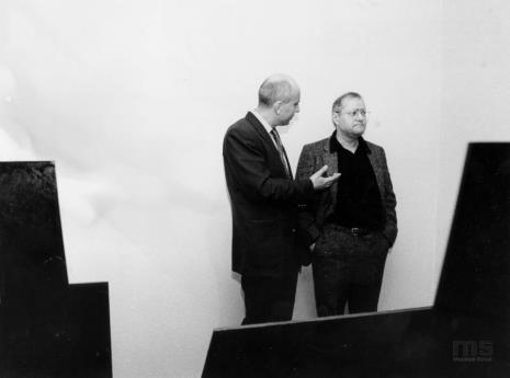 Dyr. Jaromir Jedliński (ms) i Royden Rabinowitch
