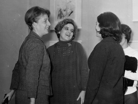 Od lewej D. Rycerz, Margarita Madan de Florez (Muzeum Narodowe w Hawanie)