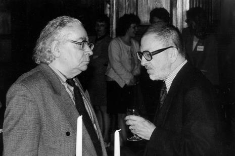 Malarz Stanisław Fijałkowski i Ryszard Stanisławski (były dyrektor ms)