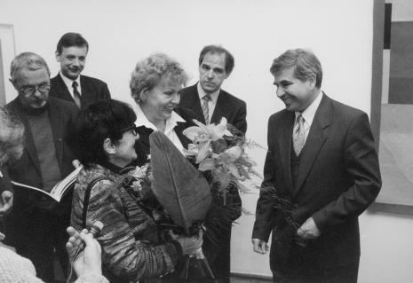 Pierwszy z lewej prof. Grzegorz Matuszak (Uniwersytet Łódzki, radny), na pierwszym planie Denise Rene