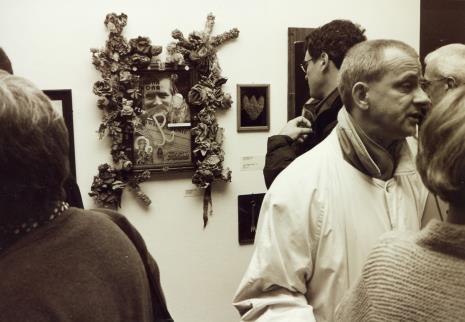 Z prawej Janusz Głowacki (Galeria 86 w Łodzi)