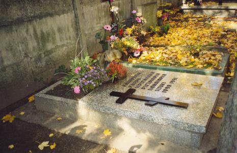 Grób Katarzyny Kobro na prawosławnym cmentarzu na Dołach w Łodzi