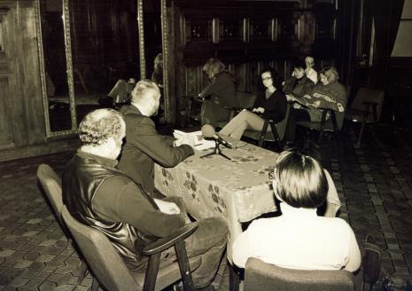 Konferencja prasowa w sali odczytowej ms