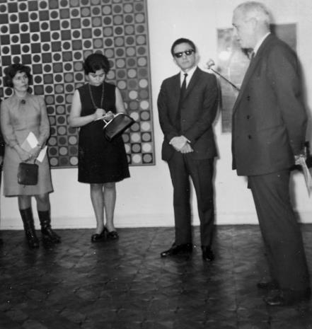Od lewej B. Wąsowicz (CBWA w Warszawie), M. Straszkiewicz (tłumaczka), dyr. Ryszard Stanisławski, Arnauld Wapler (Ambasador Francji w Polsce)