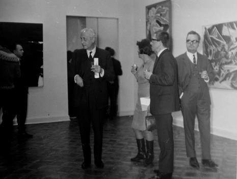 Arnauld Wapler (Ambasador Francji w Polsce), B. Wąsowicz (CBWA w Warszawie), dyr. Ryszard Stanisławski, Robert Chatel (attache kulturalny ambasady francuskiej)